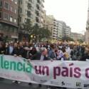 """manifiestación por """"la voluntad de diversidad y pluralidad"""" de la sociedad valenciana en València"""