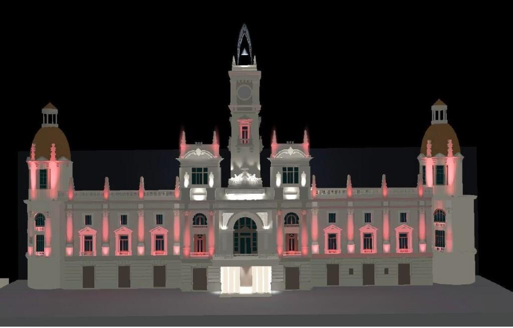 0502 Recreació il·luminació façana de l'Ajuntament