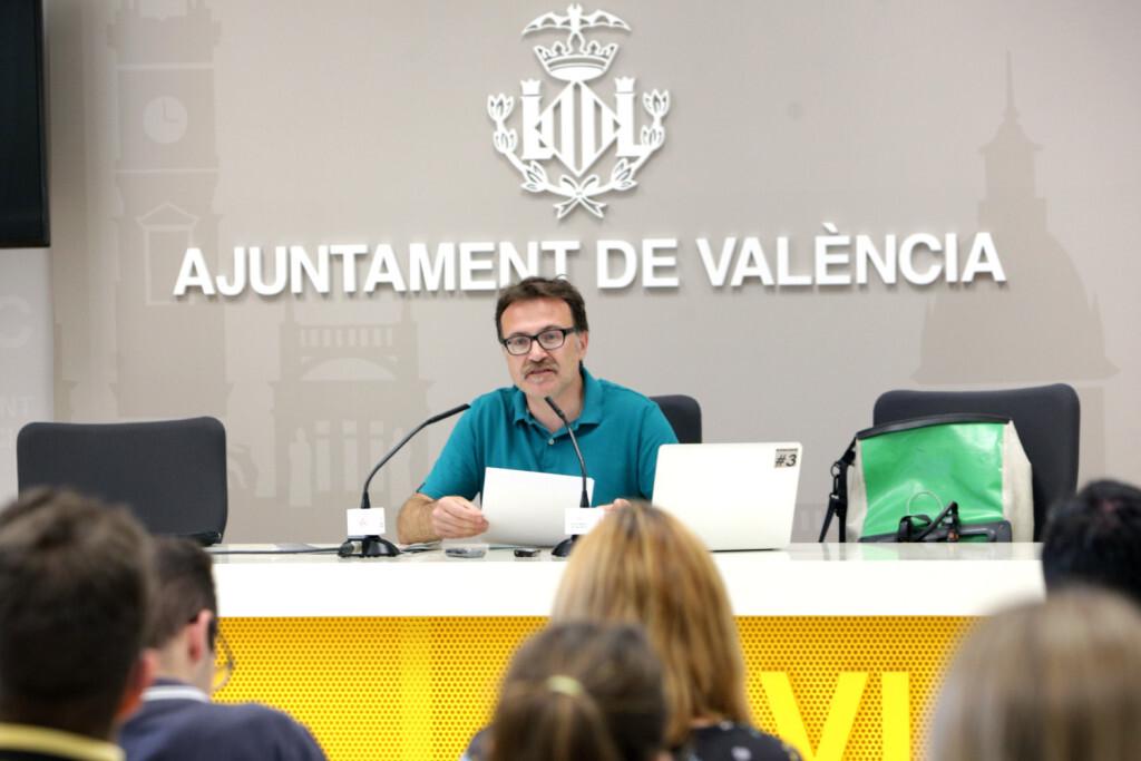 VALENCIA  2018-05-26 Rueda de prensa de Giuseppe Grezzi sobre seguridad vial