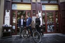 Jose Cuellar 9/5/2018 Valencia, Comunitat Valenciana El regidor de Mobilitat Sostenible, Giuseppe Grezzi, participa en la roda de premsa de l'Associació de Comerciants del Centre Històric que tindrà lloc a la Plaça Redona.