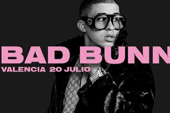 A fuego lento con Bad Bunny el 20 de julio en Valencia.