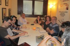 El escritor y guionista Jimmy Entraigües imparte una master class en el taller de escritura de 'Libro, vuela libre'.