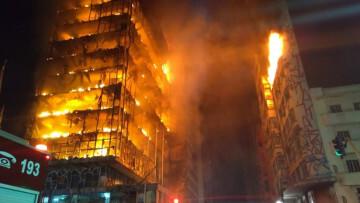 Incendio edificio Brasil