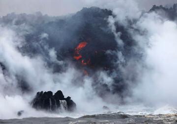 Kilauea llega al mar