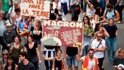 Macron Manifestacion contra