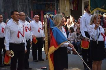 Procesión general por las calles del centro de Valencia en honor a la Virgen de los Desamparados (100)
