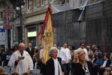 Procesión general por las calles del centro de Valencia en honor a la Virgen de los Desamparados (117)