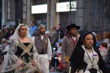 Procesión general por las calles del centro de Valencia en honor a la Virgen de los Desamparados (119)
