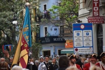 Procesión general por las calles del centro de Valencia en honor a la Virgen de los Desamparados (144)