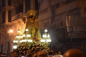 Procesión general por las calles del centro de Valencia en honor a la Virgen de los Desamparados (182)