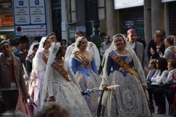Procesión general por las calles del centro de Valencia en honor a la Virgen de los Desamparados (46)