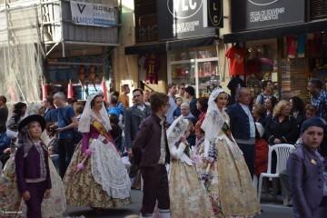 Procesión general por las calles del centro de Valencia en honor a la Virgen de los Desamparados (51)