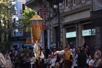 Procesión general por las calles del centro de Valencia en honor a la Virgen de los Desamparados (84)