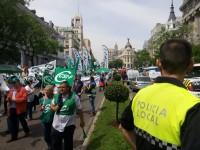 Protesta centro Madrid