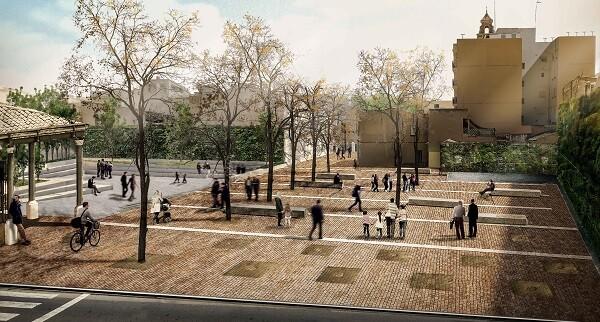 Simulación de cómo quedará la plaza tras las obras