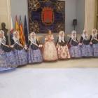 Las Falleras Mayores de Sagunt (FJFS) asisten a las proclamaciones de las Belleas del Foc de Alicante