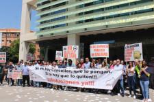protesta taxistas puerta Conselleria2