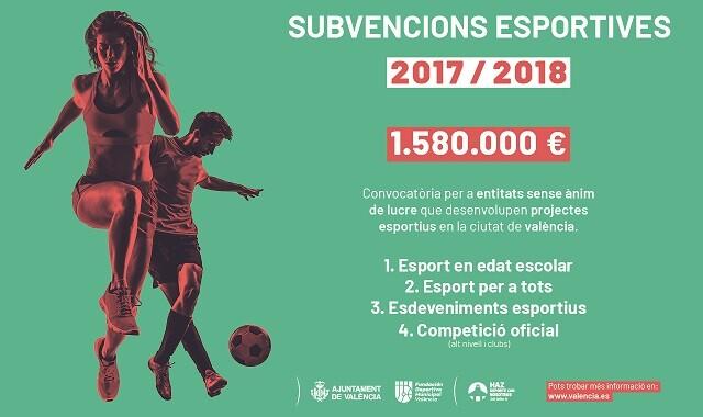 Cartel subvencions esportives 2018