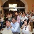 Jorge Rodríguez, recibido entre aplausos y abrazos en el Ayuntamiento de Ontinyent tras quedar en libertad