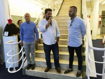 Miquel Clemades, Natxo Costa y Fran Tochena durante la inauguración