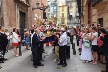 Procesión de la imagen del Cristo de Sant Bult, del siglo XIII, en Valencia 20180610 (50)