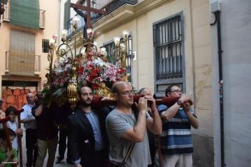 Procesión de la imagen del Cristo de Sant Bult, del siglo XIII, en Valencia 20180610 (77)