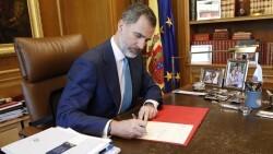 S.M. Felipe VI firma nombramiento de Pedro Sánches