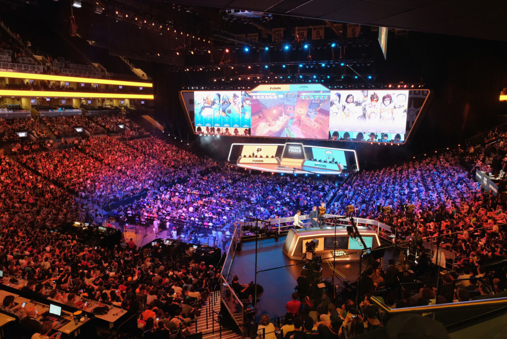 NEW YORK, NY - JULY 27:  A view of the crowd during Overwatch League Grand Finals - Day 1 at Barclays Center on July 27, 2018 in New York City.  (Photo by Matthew Eisman/Getty Images for Blizzard Entertainment )
