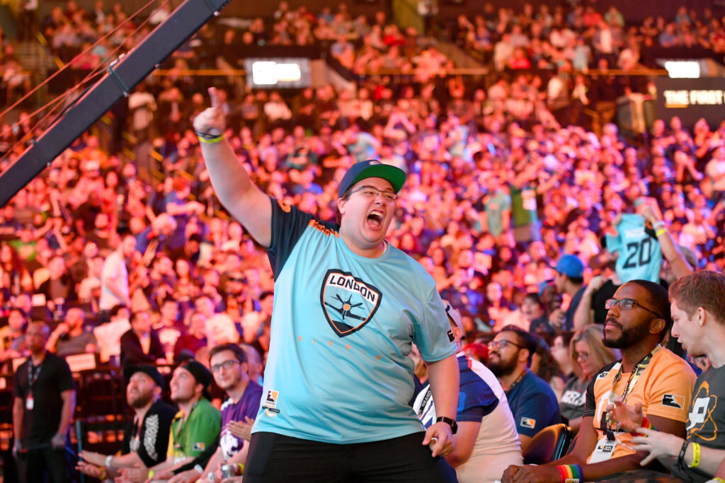 NEW YORK, NY - JULY 27:  The crowd is seen at Overwatch League Grand Finals - Day 1 at Barclays Center on July 27, 2018 in New York City.  (Photo by Bryan Bedder/Getty Images for Blizzard Entertainment )