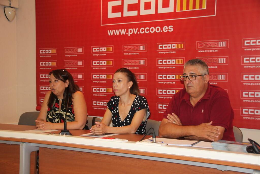20180724_RP_Servicios CCOO_Ángeles Balué, Simone Peçanha y José Miguel Mandingorra