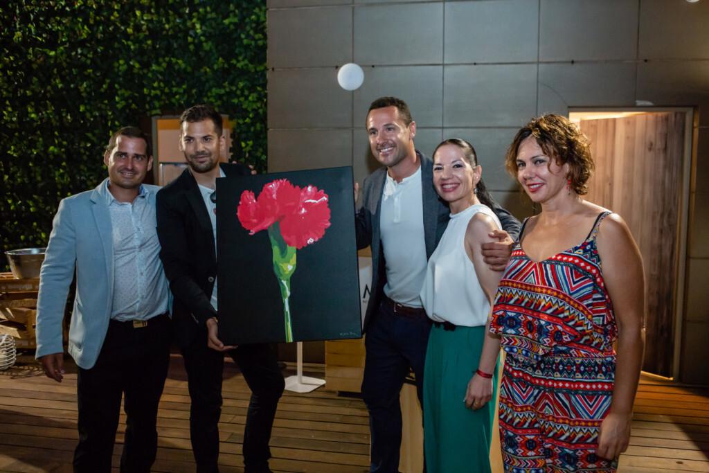 Sergio Navarro, Oscar Montes, Luis Fernández, Pilar Pardo y Amparo Azcutia