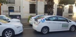 Cerrada a la circulación la calle Colón de València por la huelga de taxistas 20180730_183749(1)