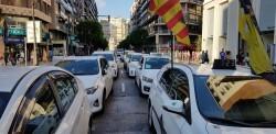 Cerrada a la circulación la calle Colón de València por la huelga de taxistas 20180730_183749(28)