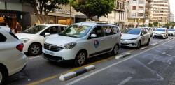 Cerrada a la circulación la calle Colón de València por la huelga de taxistas 20180730_183749(9)