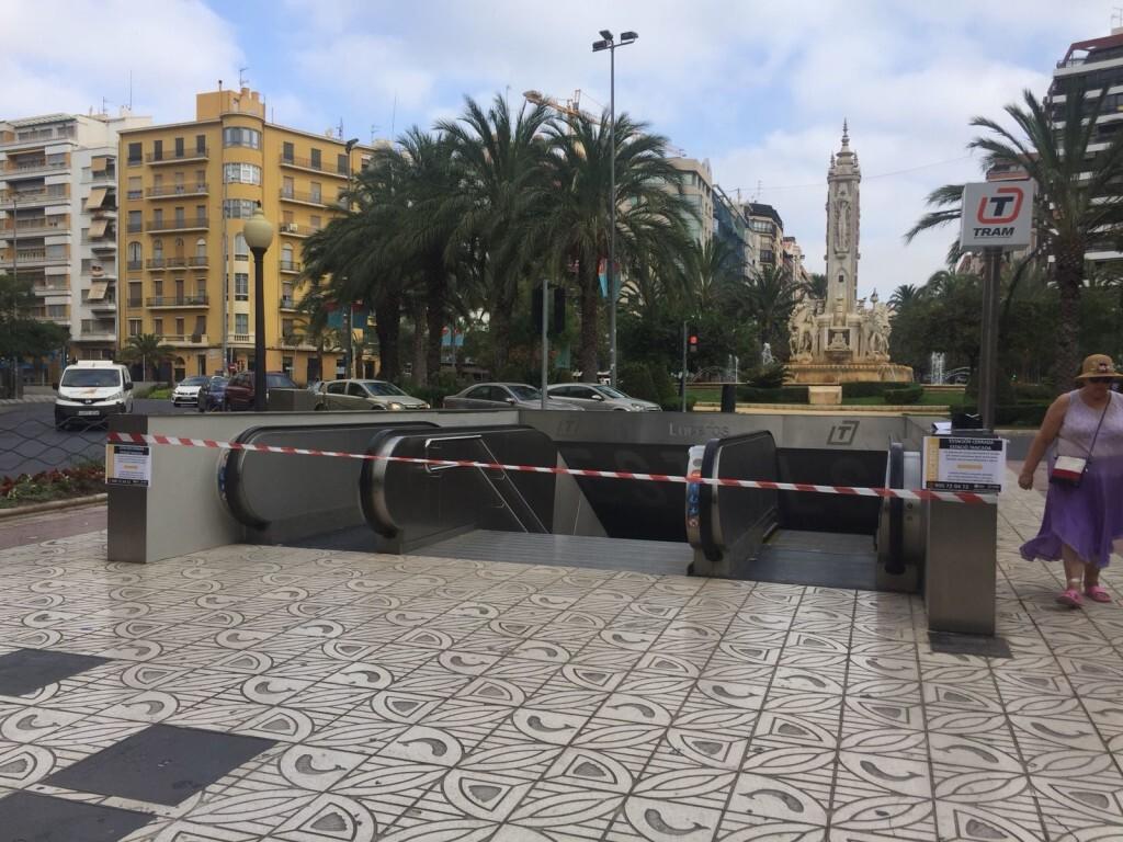 Los trabajos de reparación de la estructura del ascensor de Luceros obligan a cerrar esta estación temporalmente