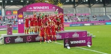 SEleccion ESpañola Femenina campeonas de Europa