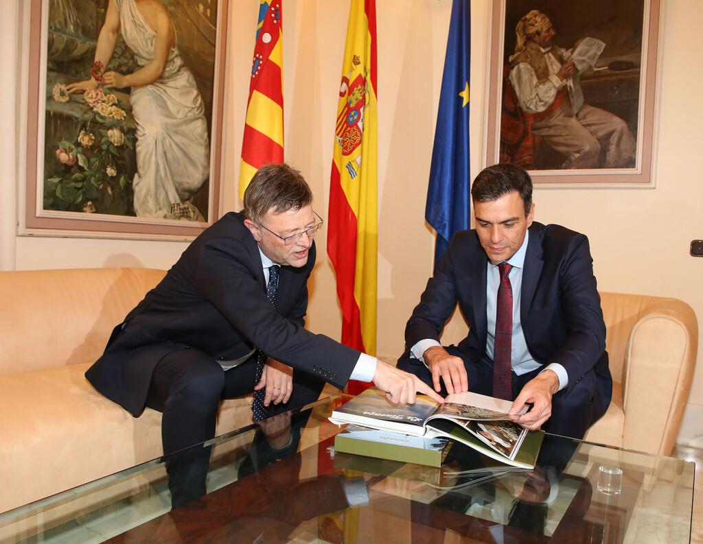 Ximo Puig, ha mantenido una reunión con el presidente del Gobierno, Pedro Sánchez 2