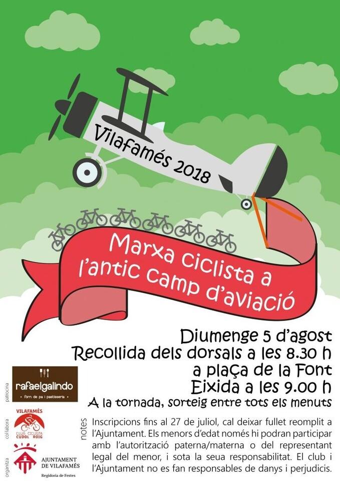cartell marxa ciclista camp aviació