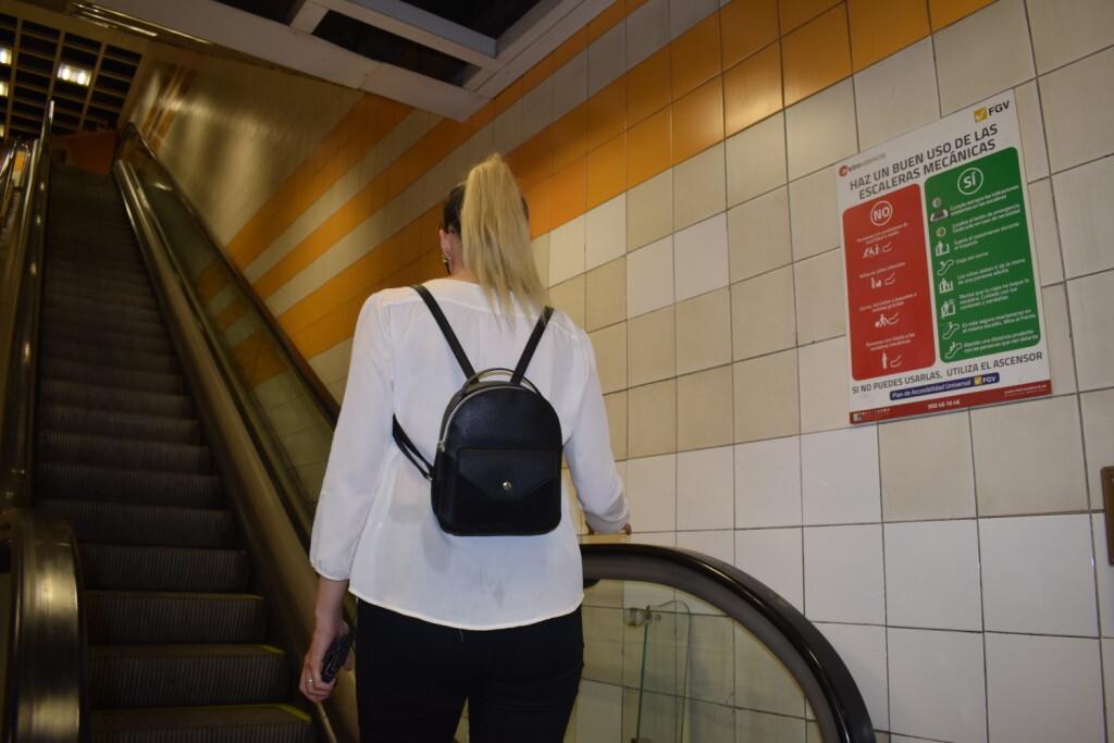 FGV reduce un 20 los accidentes en las escaleras mecánicas de la red de Metrovalencia