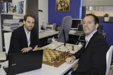 El campeón de España, Paco Vallejo y Enrique Llobell en un evento disputado en laUniversitat de València