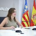 VALENCIA  2018-08-03 La regidora de Desenvolupament Econ˜mic Sostenible i alcaldessa en funcions, Sandra G—mez, presenta en roda de premsa les millores del servici del 010.