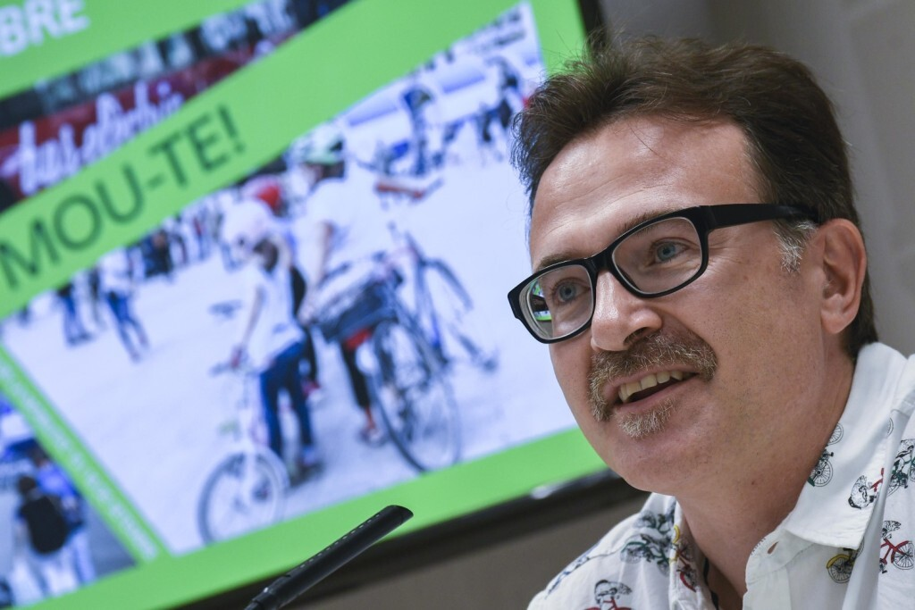 El regidor de Mobilitat Sostenible, Giuseppe Grezzi, presenta en roda de premsa el programa de la Setmana de la Mobilitat Sostenible 2018 a València