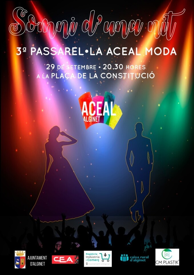 Cartell 3ª Passarel·la moda Alginet