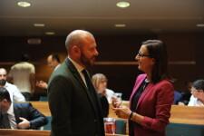 El president de la Diputació de València, Toni Gaspar, i la vicepresidenta, Maria Josep Amigó