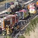 Un conductor de 73 años resulta herido tras haber volcado su vehículo en la A-7 en Alicante