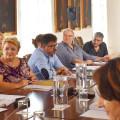 presidenta del Consejo, Mercedes Berenguer, el vicepresidente Emili Altur, el consejero delegado Pedro Domingo y el gerente Antonio Mas