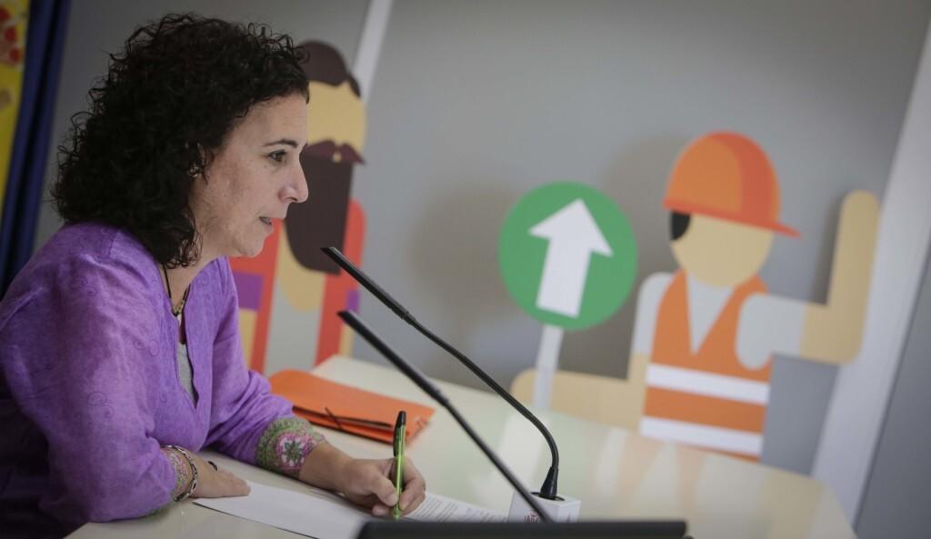 Jose Cuellar Asuncion 5/10/2018 Valencia, Comunidad Valenciana. La regidora de Participaci— Ciutadana, Neus F‡bregas Santana, presenta en roda de premsa els resultats de Decidim Valncia 2019