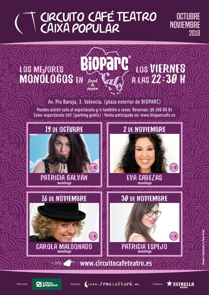 BIOPARC Cafe - Cartel monologos Circuito Cafe Teatro