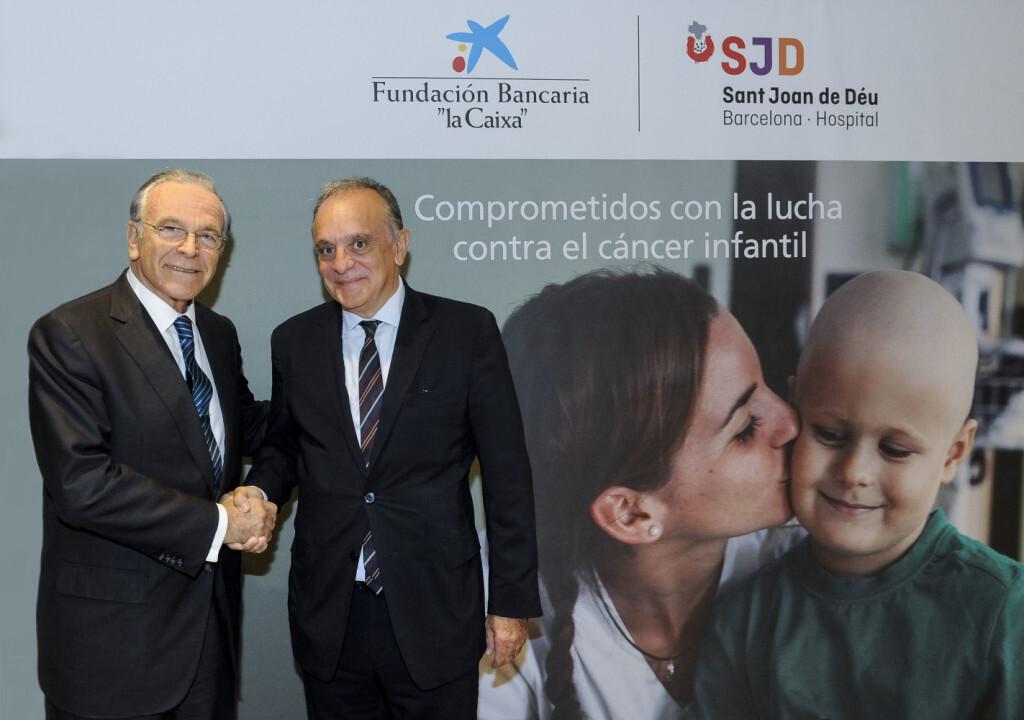 Foto Isidro Fainé y Manuel del Castillo acuerdo la Caixa Sant Joan de Deu