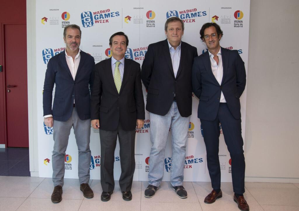 De izquierda a derecha:José María Moreno Eduardo López-Puertas Alberto González Lorca Asier Labarga